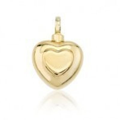 cremation jewellery gold heart
