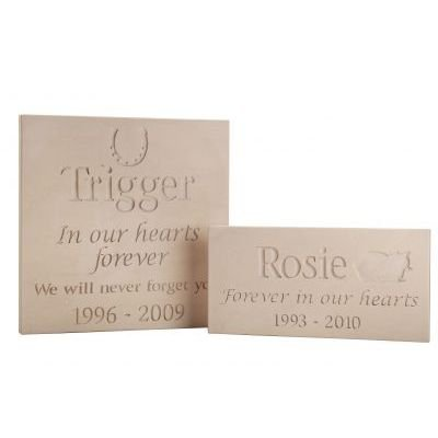 sandstone pet memorial plaques