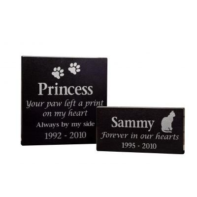 Granite pet memorial plaques