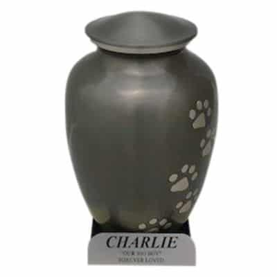 pet cremation perth option 2 engraved stand metal urn