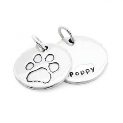 pet paw print charms
