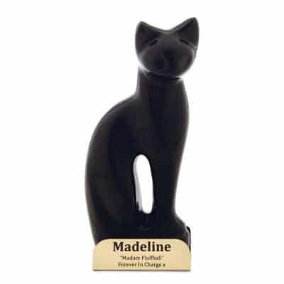 black cat euthanasia urn