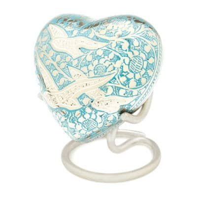 pet euthanasia keepsake love heart urn
