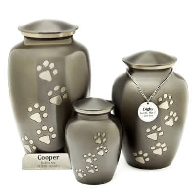 paw prints slate pet cremation perth urn