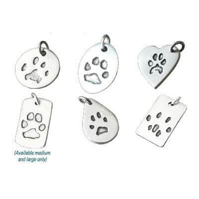 pet paw print jewellery