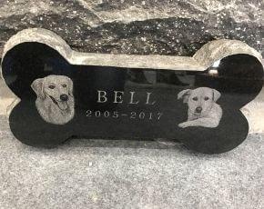 Dog Bone Shaped Headstone