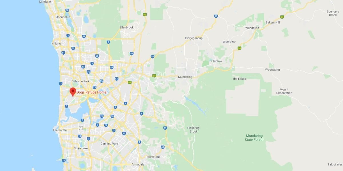Dogs Refuge Home Pet Cemetery Perth Map